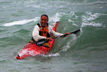 michael gray kayak coach at great lakes sea kayak symposium